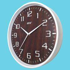Zegar ścienny biały drewniana tarcza #3