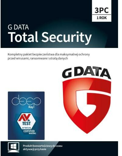 G Data Total Security 2019 3 PC/1 rok (Kod) Dostęp po opłaceniu zakupu