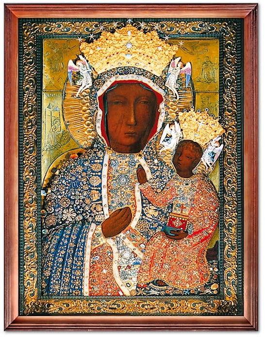 Cudowny Obraz Matki Bożej Jasnogórskiej w sukience diamentowej