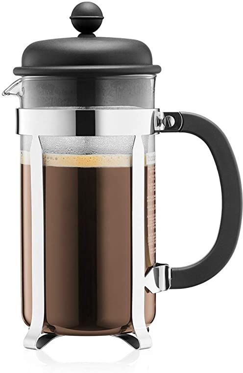 BODUM Cafeteria 8 filiżanek francuska prasa ekspres do kawy, czarny, 1,0 l, 80 ml
