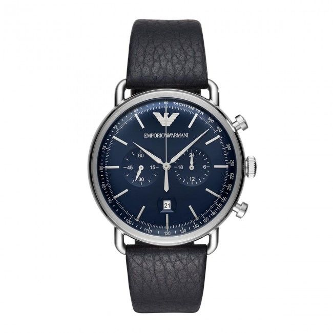 Zegarek EMPORIO ARMANI - Aviator AR11105 Blue/Silver