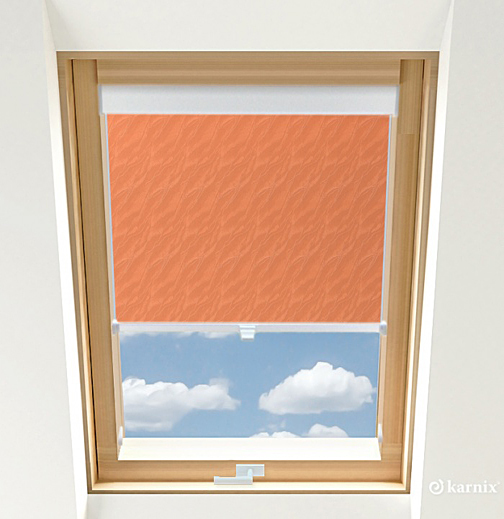 Roleta do okien dachowych BASIC AQUA - Ginger / Biały