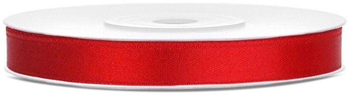 Tasiemka satynowa 6mm czerwona 25m 1szt. TS6-007