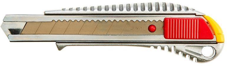 Nóż z ostrzem łamanym 18mm korpus i prowadnice ostrza metalowe 17B128
