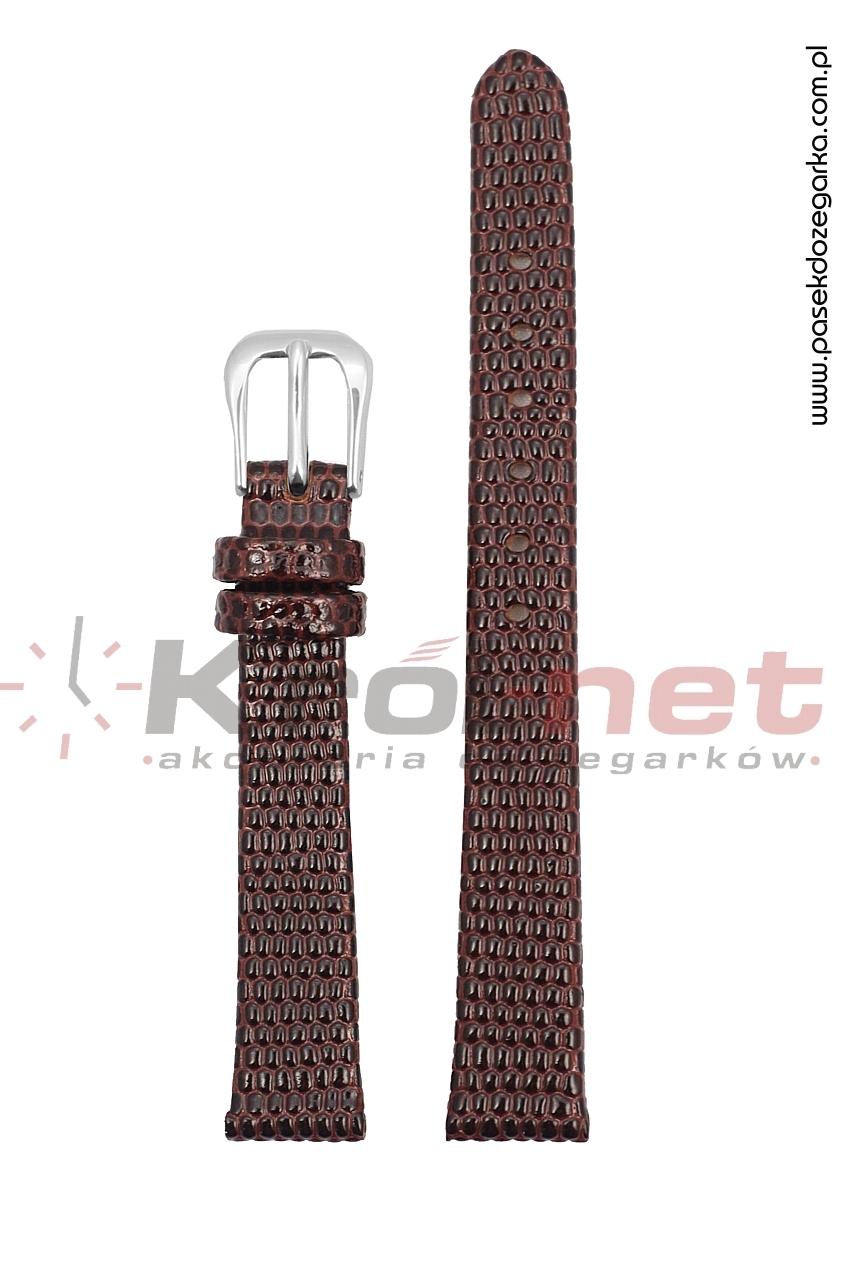 Pasek TK033BR/8 - brązowy, imitacja skóry jaszczurki