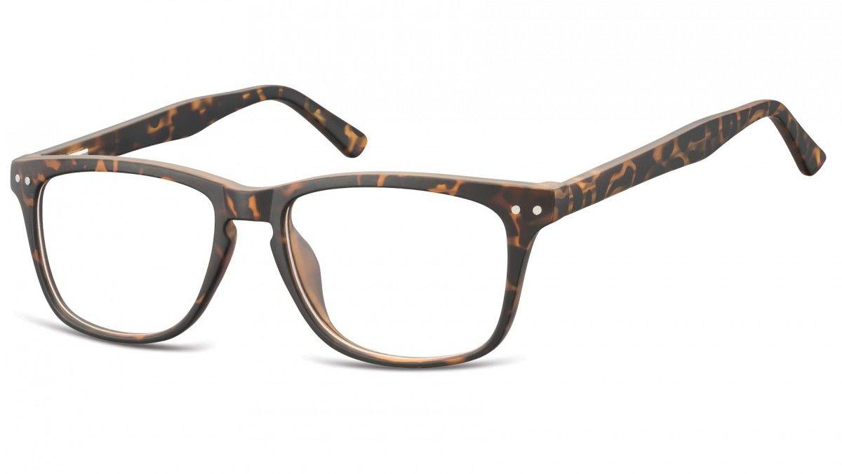 Okulary oprawki korekcyjne Nerdy zerówki Sunoptic CP136D jasny szylkret