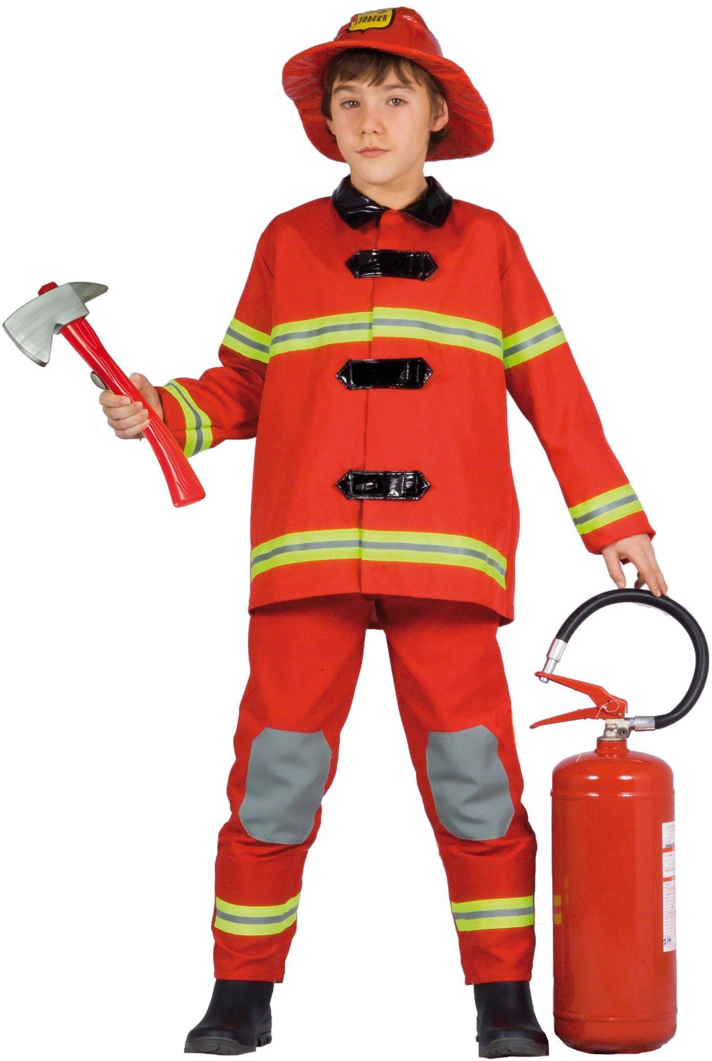 Ciao 10870  kostium strażaka dziecko 8-10 anni czerwony
