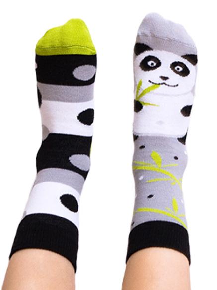 Skarpety kolorowe dla dzieci, panda - Lazy Panda