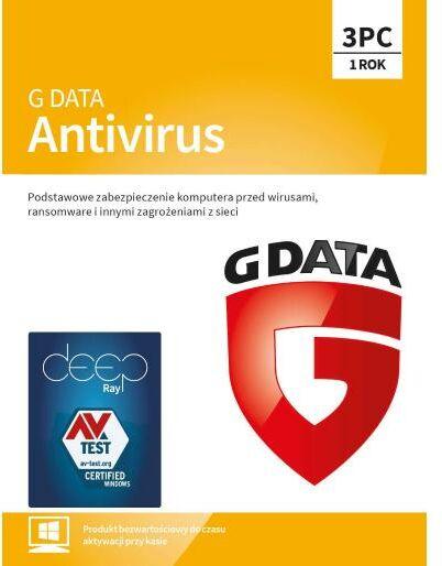 G Data Antivirus 2019 3PC/1 rok (kod) Dostęp po opłaceniu zakupu