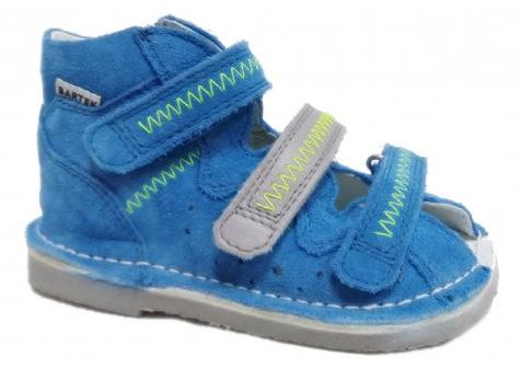 BARTEK kapcie 11638/16638-1PY profilaktyczne dziecięce - niebieski