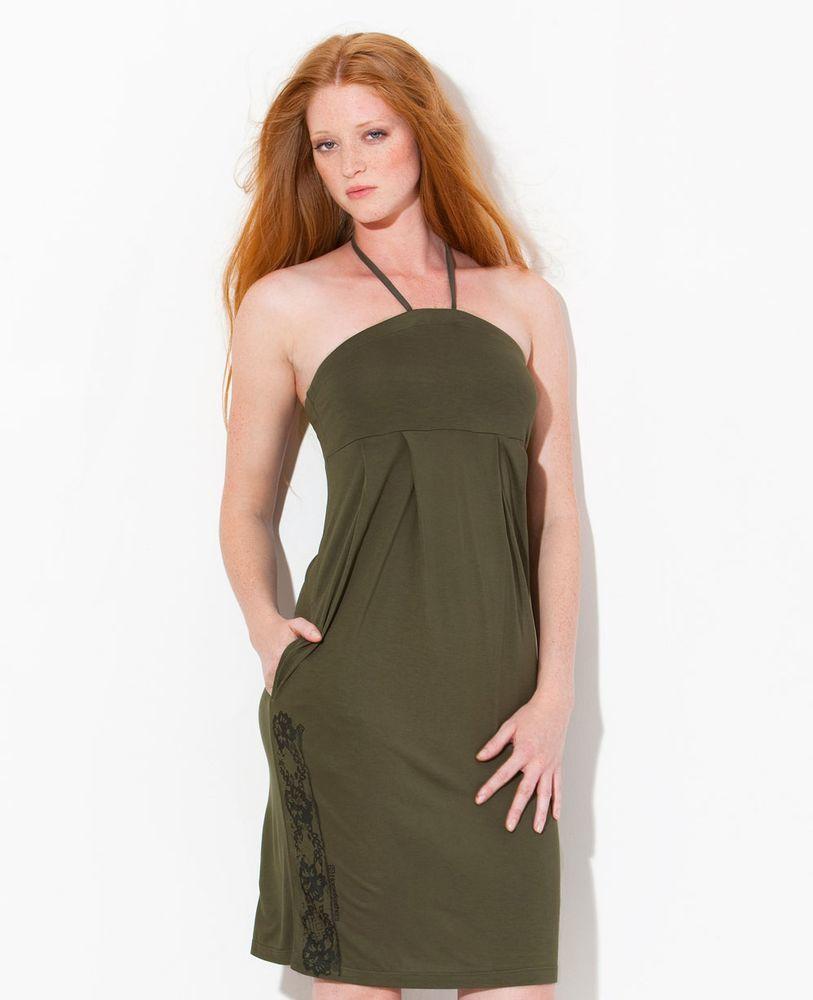 sukienka damska HORSEFEATHERS BREATHLESS DRESS (olive)