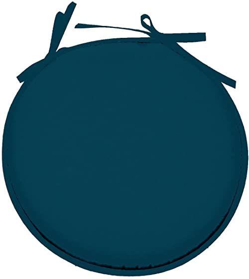 Lovely Casa Nelson poduszka do siedzenia okrągła poliestrowa kaczka 40 x 40 cm