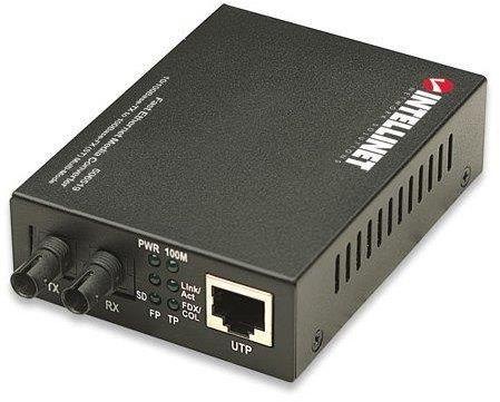 Media konwerter Intellinet 10/100Base-TX RJ45 na 100Base-FX ST wielomodowy, 2 km