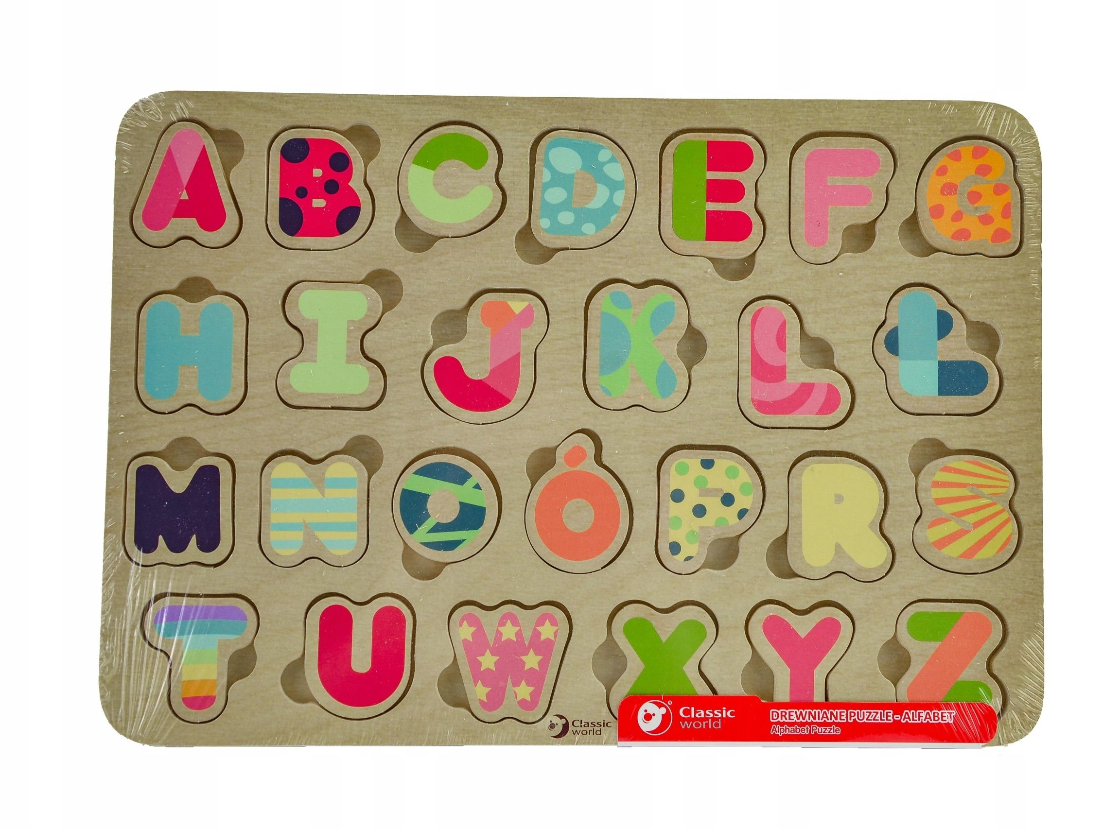 CLASSIC WORLD Układanka Puzzle Alfabet nauka Literek