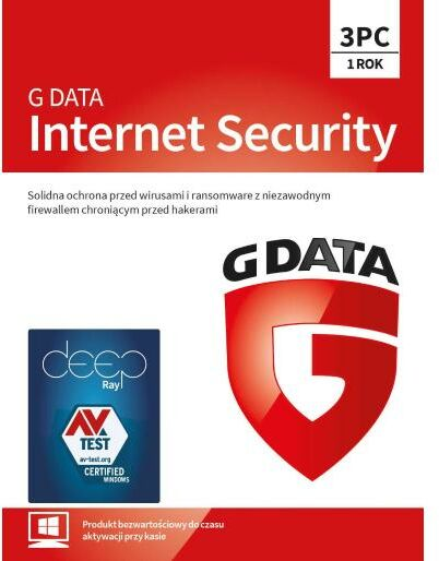 G Data Internet Security 2019 3 PC/1 rok (Kod) Dostęp po opłaceniu zakupu