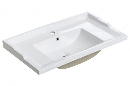 Umywalka ceramiczna RETRO 80 cm z otworem na baterię i przelewem
