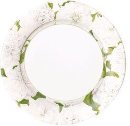Rozrywka z Caspari Olive Grove kwadratowa sałatka/deserowa papierowe talerze kwadratowe opakowanie 8 sztuk, naturalne, 20 x 3 x 20 cm