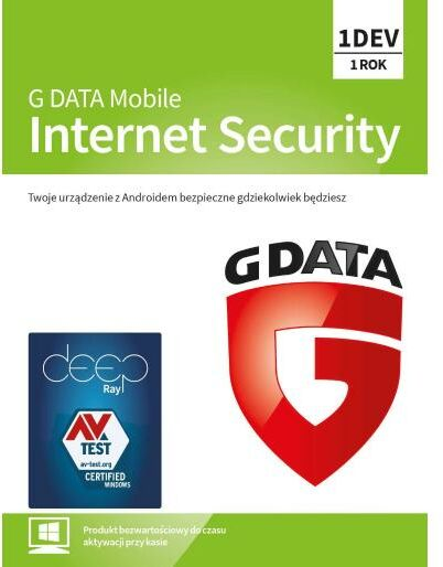 G Data Mobile Internet Security 2019 1 urz./1 rok (Kod) Dostęp po opłaceniu zakupu
