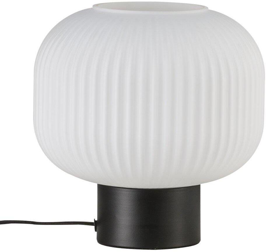 Lampa stołowa Milford 48965001 Nordlux biało-czarna oprawa w dekoracyjnym stylu