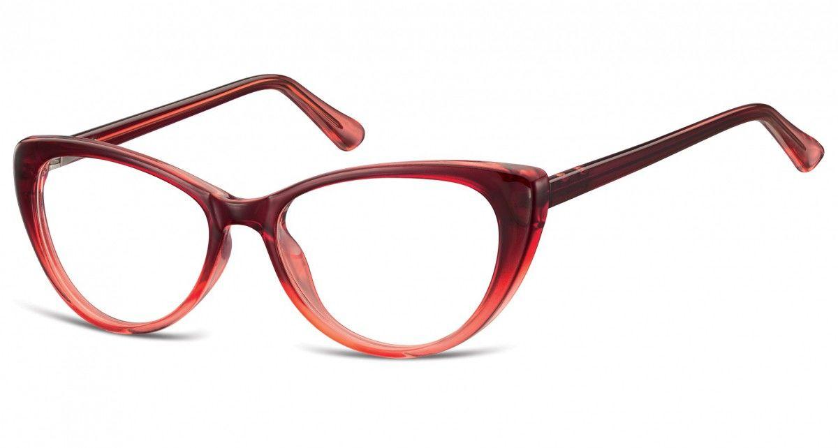 Okulary oprawki korekcyjne Kocie Oczy zerówki Sunoptic CP138B gradient burgundowy