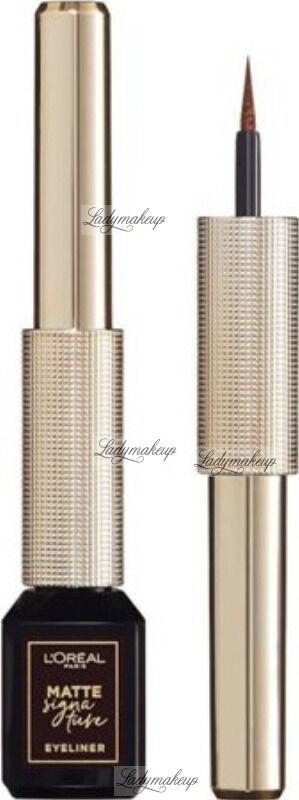 L''Oréal - MATTE SIGNATURE EYELINER - Eyeliner w płynie - 03 - BROWN