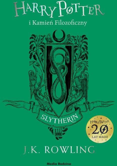 Harry Potter i kamień filozoficzny (Slytherin) ZAKŁADKA DO KSIĄŻEK GRATIS DO KAŻDEGO ZAMÓWIENIA