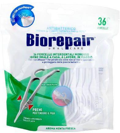 Biorepair ręczne flossery z nicią dentystyczną 36 sztuk