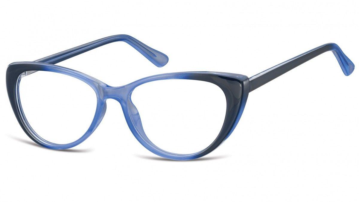 Okulary oprawki korekcyjne Kocie Oczy zerówki Sunoptic CP138C gradient niebieski
