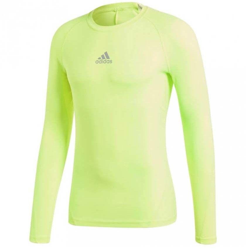 Koszulka męska adidas Alphaskin Sport LS Tee żółta