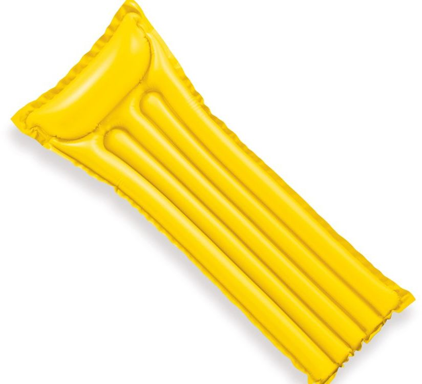 Materac plażowy do pływania ECONOMATS żółty Intex 59703