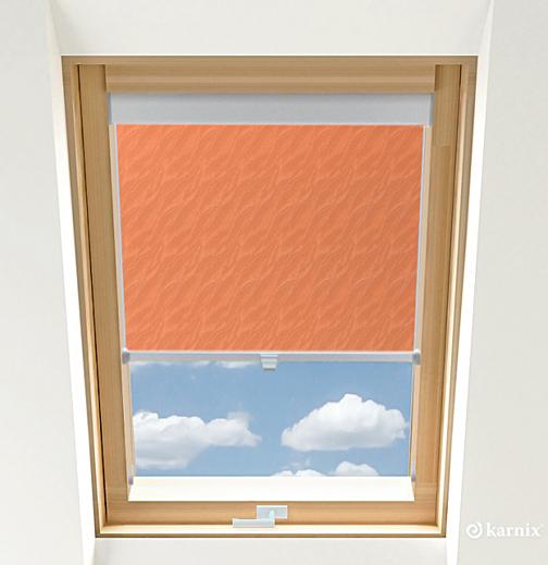 Roleta do okien dachowych BASIC AQUA - Ginger / Srebrny