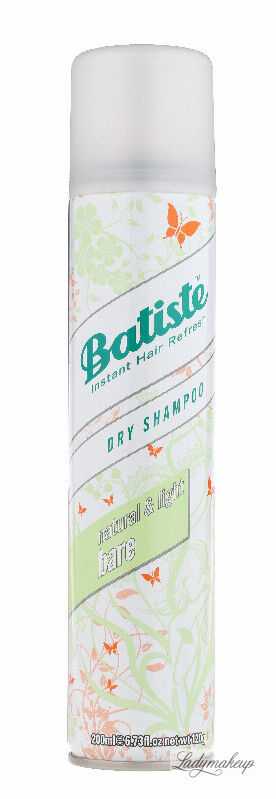 Batiste - Dry Shampoo - NATURAL & LIGHT BARE - Suchy szampon do włosów - 200 ml
