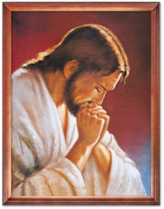 Obraz Jezus Chrystus modlący się