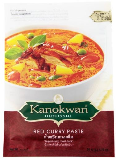 Pasta Curry Czerwona Red 50g - Kanokwan