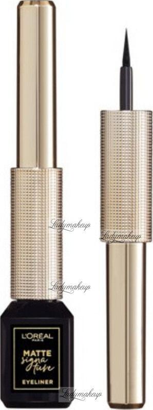L''Oréal - MATTE SIGNATURE EYELINER - Eyeliner w płynie - 01 - BLACK