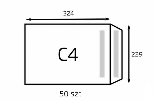 Koperta C4 HK- biała z paskiem samoprzylepnym (op. 50 szt.) (NC F18)