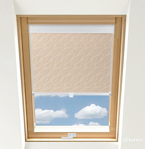 Roleta do okien dachowych - AQUA - Cream / Biały