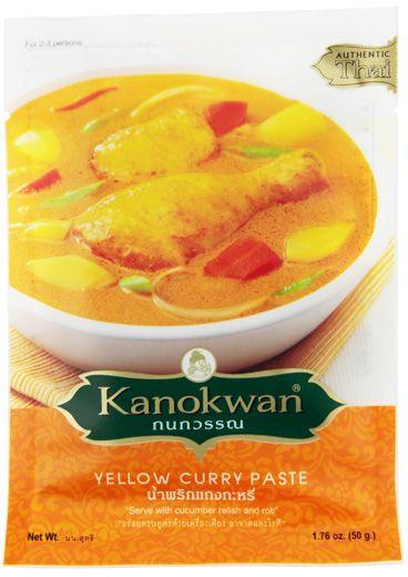 Pasta Curry Żółta Yellow 50g - Kanokwan