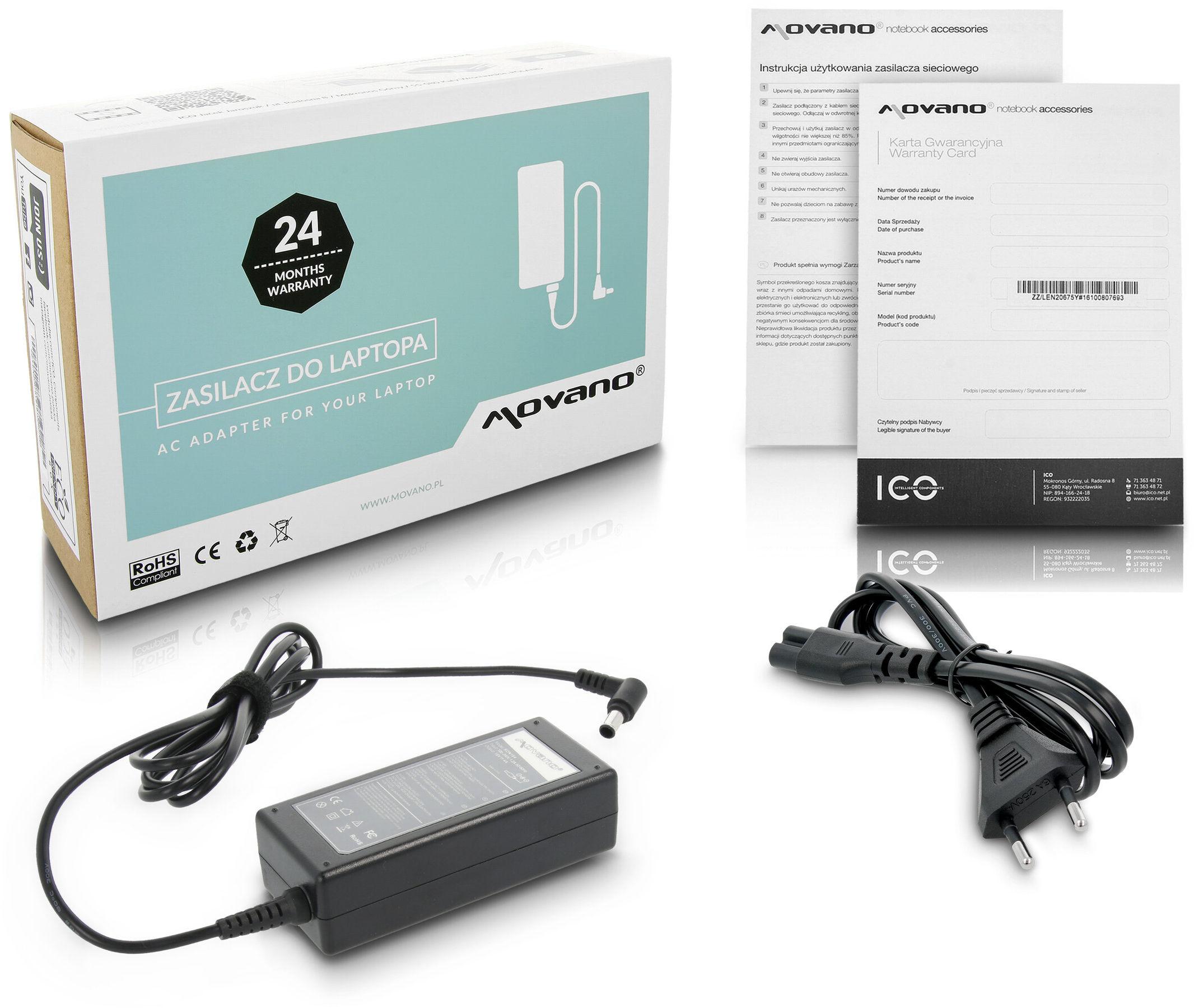 Zasilacz ładowarka ZZ/SON164 do Sony Vaio PCG-SR27K PCG-SR33