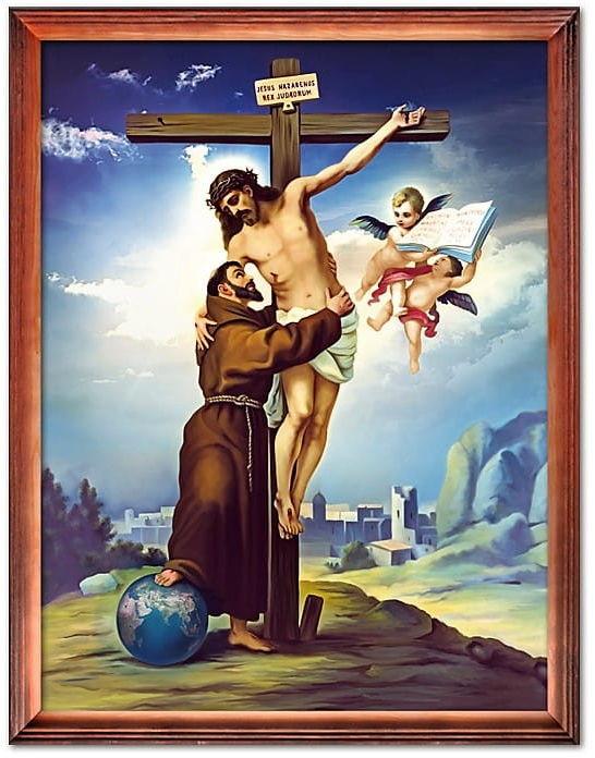 Obraz Jezus Chrystus i św. Franciszek z Asyżu