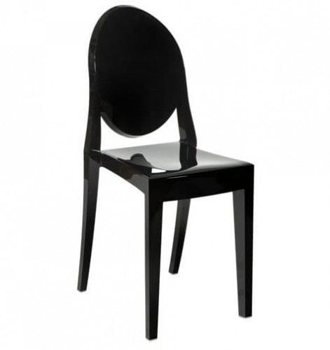 Krzesło Duch II inspiracja proj. Victoria Ghost czarne