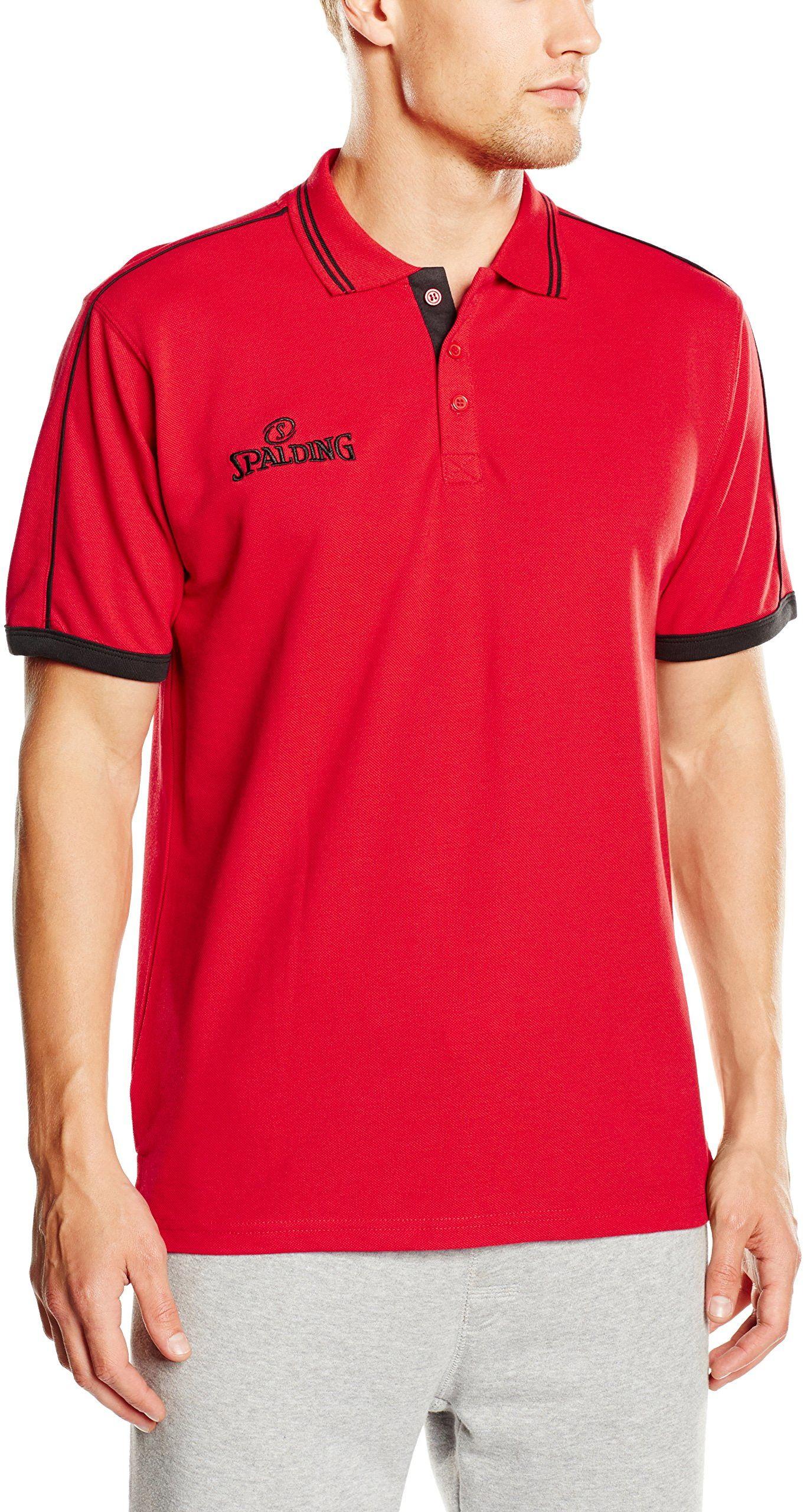 Spalding Męska koszulka polo, czerwony/czarny, XL