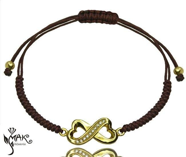 MAK-Biżuteria BR481/30 BRANSOLETKA INFINITY NIESKOŃCZONOŚĆ sznurek
