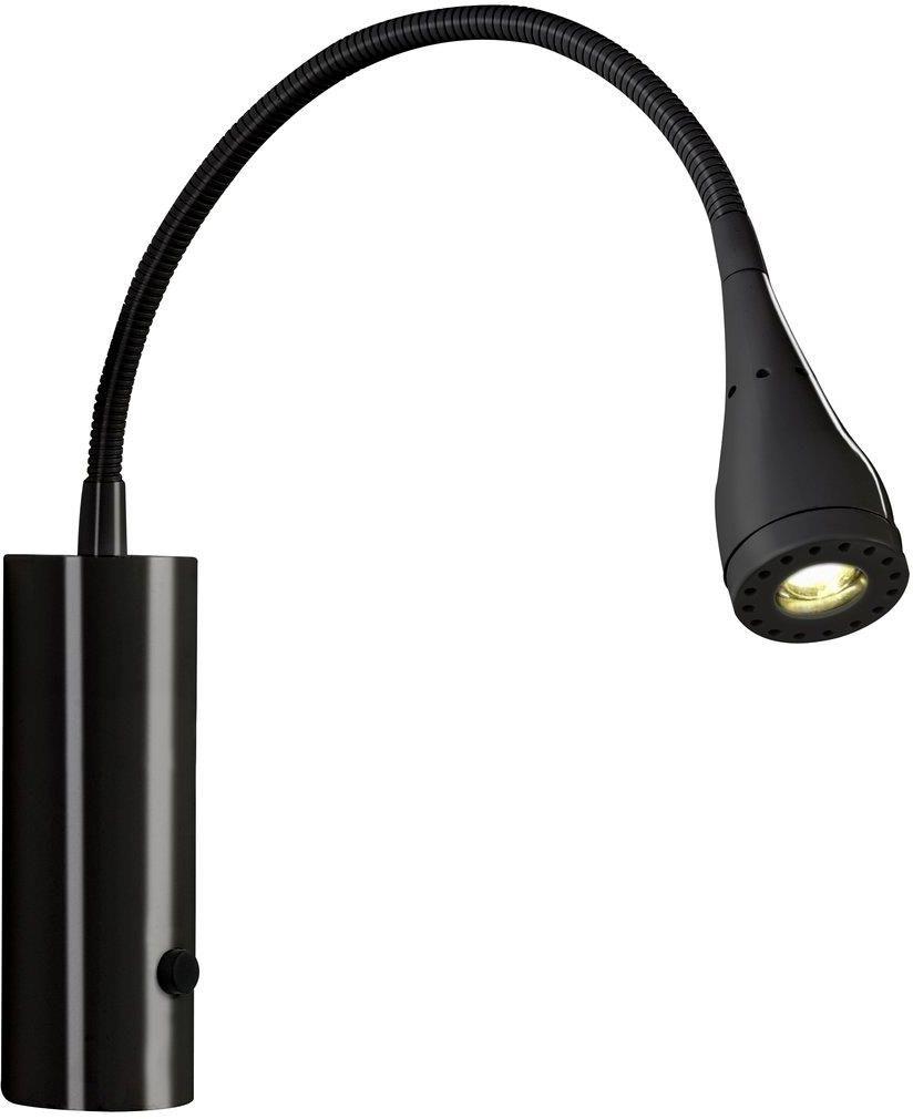 Kinkiet Mento 75531003 Nordlux czarna oprawa ścienna z elastycznym wysięgnikiem
