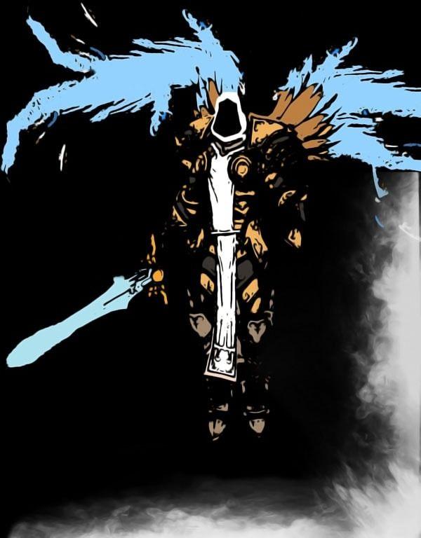 Blizzardverse stencils - tyrael, the stalwart defender of mankind, diablo - plakat wymiar do wyboru: 70x100 cm