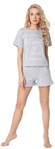 Piżama damska aruelle hearty short grey
