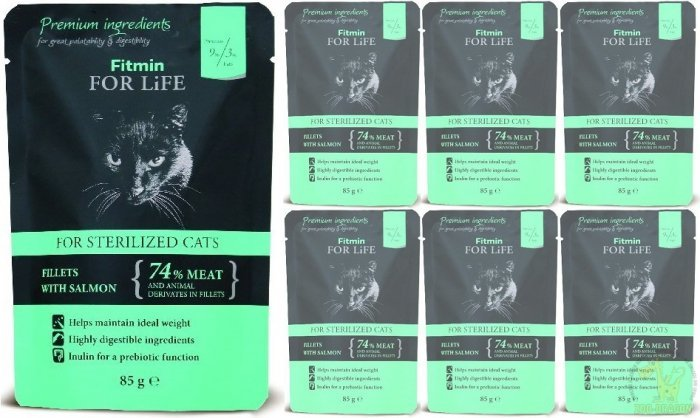 Fitmin Cat For Life Sterilized Salmon 12x85g