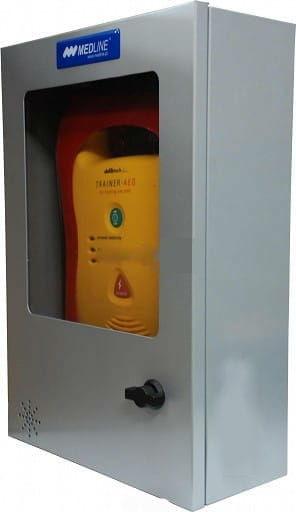 Szafka na AED z alarmem dźwiękowym