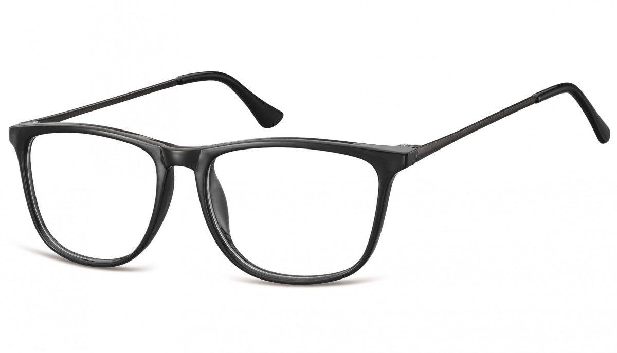 Okulary oprawki korekcyjne Nerdy zerówki Sunoptic CP142 czarne