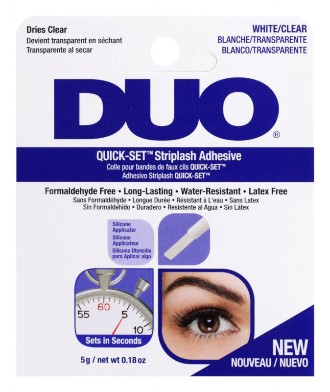 DUO - QUICK-SET Striplash Adhesive - Klej do rzęs - White/Clear